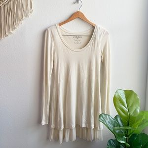 Peruvian Connection Long Sleeve Dress White Sz. XS